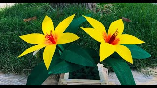 Easy And Beautiful Paper Flower Making For Home Decor Ideas | Paper Craft | Beautiful Flower Making