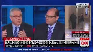 CNN Legal Analyst Jeffrey Toobin Criticizes Trump Defense Team's - (Wait For It) - Lack Of Dive