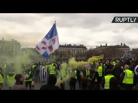 Yellow Vests protest in Paris, Act 18