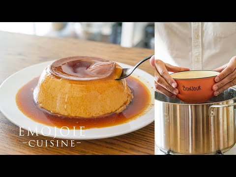 [easy-recipe]-caramel-custard-without-oven-*creme-carame-|-鍋で作れるプリンのレシピ-|-emojoie-cuisine