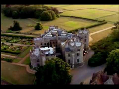 AERIAL Longford Castle  Salisbury, Wiltshire.wmv