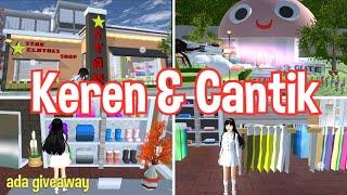 Review Rumah Jamur dan Toko Baju, Bangunan Keren Di Sakura School Simulator