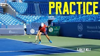 Novak Djokovic First Practice - Cincinnati 2019 (HD)