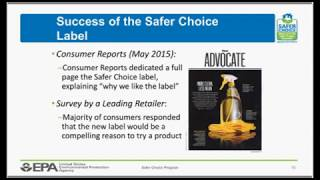Safer Choice Webinar: Retailer and Supplier Perspectives