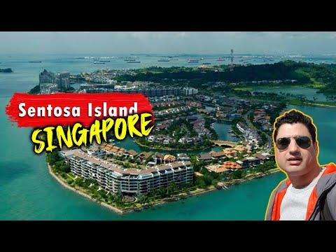 Singapore Cable Car Sentosa || Aerial View of Singapore