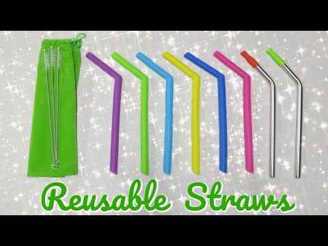 Reusable Drinking Straws - Amazon Review!