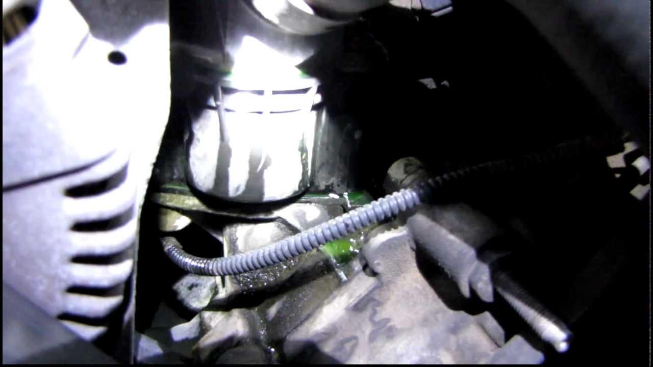 medium resolution of coolant leak in thermostat seal mercury grand marquis