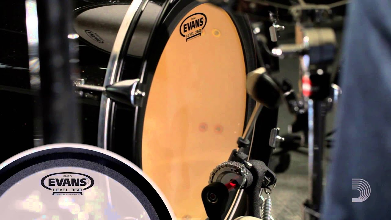 evans 16 bass drum heads youtube. Black Bedroom Furniture Sets. Home Design Ideas