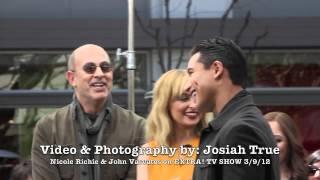 Nicole Richie John Varvatos talk FASHION STAR & Styling on EXTRA! at The Grove