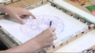 Silk Painting with textile artist Jill Kennedy (1)