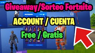 How to get free skins *GIveaway Fortnite account*