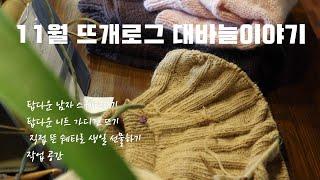 11월 뜨개로그/탑다운 쉐타/탑다운 크롭 가디건 뜨기/…