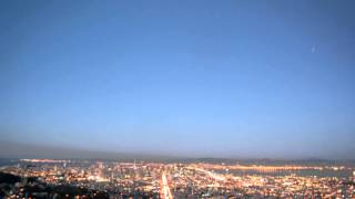 Night falls over San Francisco - timelapse, with auto-gamma correction.