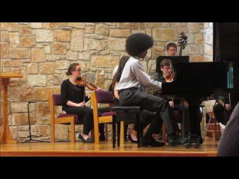 Self-Taught Pianist Quincy Johnson, Playing Concerto No. 2 In F Major, Op. 2
