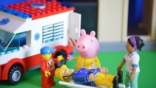 Fireman Sam Episode Accident Peppa Pig Lego Ambulance Nurse Flood Pontypandy Animation