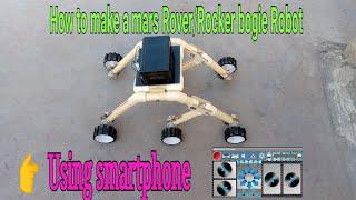 How to make a Mars Rover/Rocker bogie Robot /Stair Climbing,arduino project