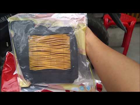 how to install air filter for Yamaha FZ16
