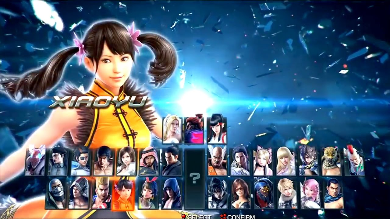 Tekken 1 To 7 All Character Select Screen 1994 2017 Youtube
