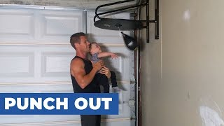 Toddler Works Out With Dad