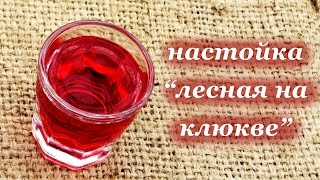 Рецепт настойки - Лесная на клюкве, алкогольный напиток