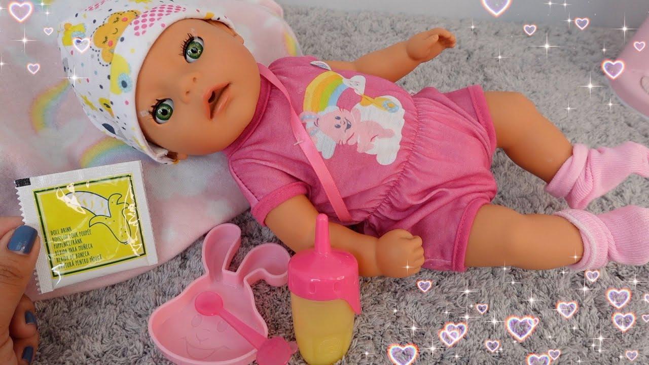 Download Feeding Baby Born lil Girl a banana 🍌 doll food packet feeding baby doll