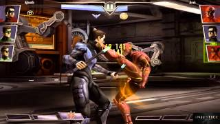 Injustice Gods Among Us: Nightwing 3 Super Attacks
