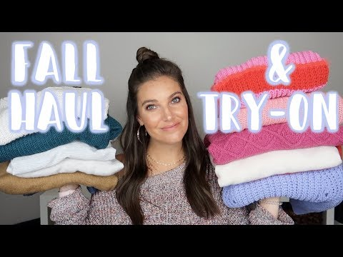 FALL FASHION HAUL & TRY-ON | H&M, ASOS, OLD NAVY, & ABERCROMBIE | Sarah Brithinee