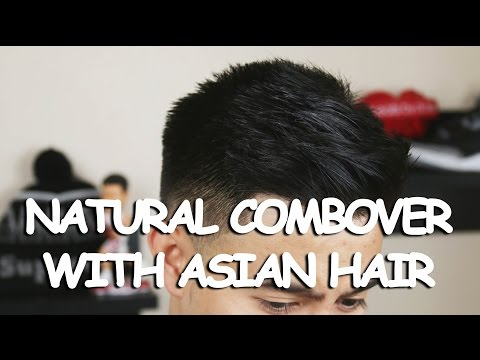 NATURAL COMBOVER WITH ASIAN HAIR