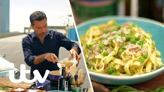 Gino D'acampo Makes Fettuccine Pasta On The Famous Lingotto Rooftop Track! | Gino's Italian Express