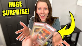 SHE WAS NOT EXPECTING THIS! Opening Her 1st PSA 10 Pokemon Cards From A Box Someone Sent!