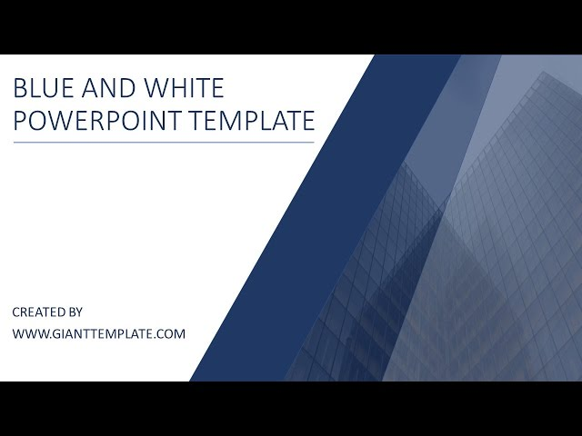 Powerpoint Presentation Templates 2017 Blue And White Free