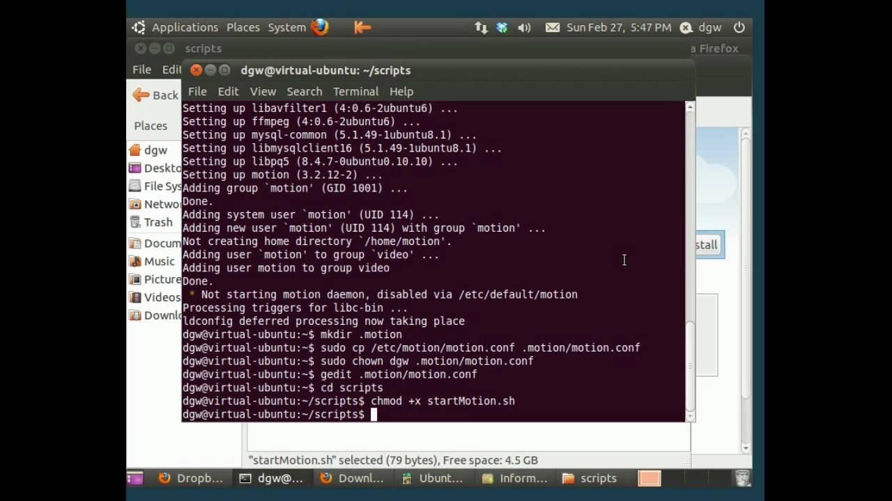 motion detection webcam Linux