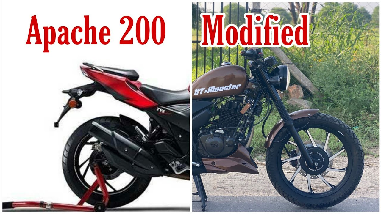 New Tvs Apache RTR 200 4v modifications | Bike Modifications| #Tvsapache200 by |Bullet tower sikar