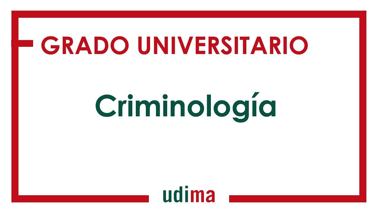 Grado En Criminología Udima