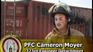 Firefighter training in Afghanistan