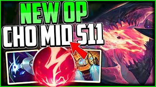 How to play Cho'Gath Mİd & CARRY! + Best Build/Runes | Cho'Gath Guide Season 11 League of Legends