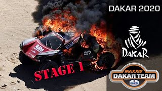 First stage, car on fire - Coronel twins in the Dakar 2020 rally with the Beast 3.0