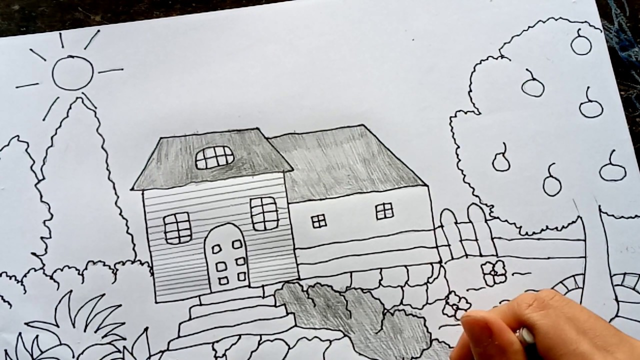 coloring house picture  youtube