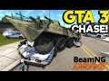 GTA Map & Police Chase! - BeamNG Gameplay & Crashes ...