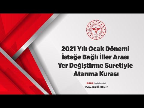 2021 Yılı Ocak Dönemi İsteğe Bağlı İller Arası Yer Değiştirme Suretiyle Atanma K