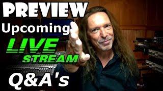 Preview - Upcoming Live Stream Topics - Ken Tamplin Vocal Academy