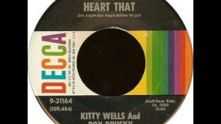 Kitty Wells / Roy Drusky ~ I Cant Tell My Heart That YouTube Videos
