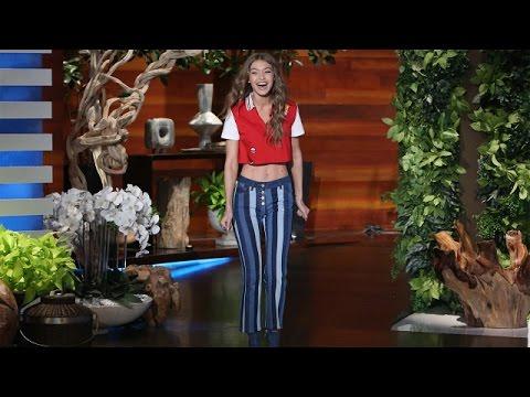 The Gorgeous Gigi Hadid S Ellen Debut Youtube
