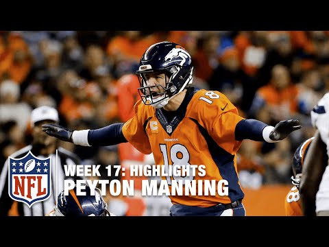 The Return of Peyton Manning! | Chargers vs. Broncos | NFL Week 17 Highlights