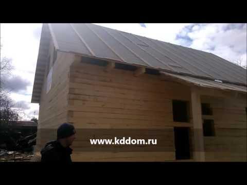 Дом из бруса 8 на 10 с мансардой - отзыв о строительстве