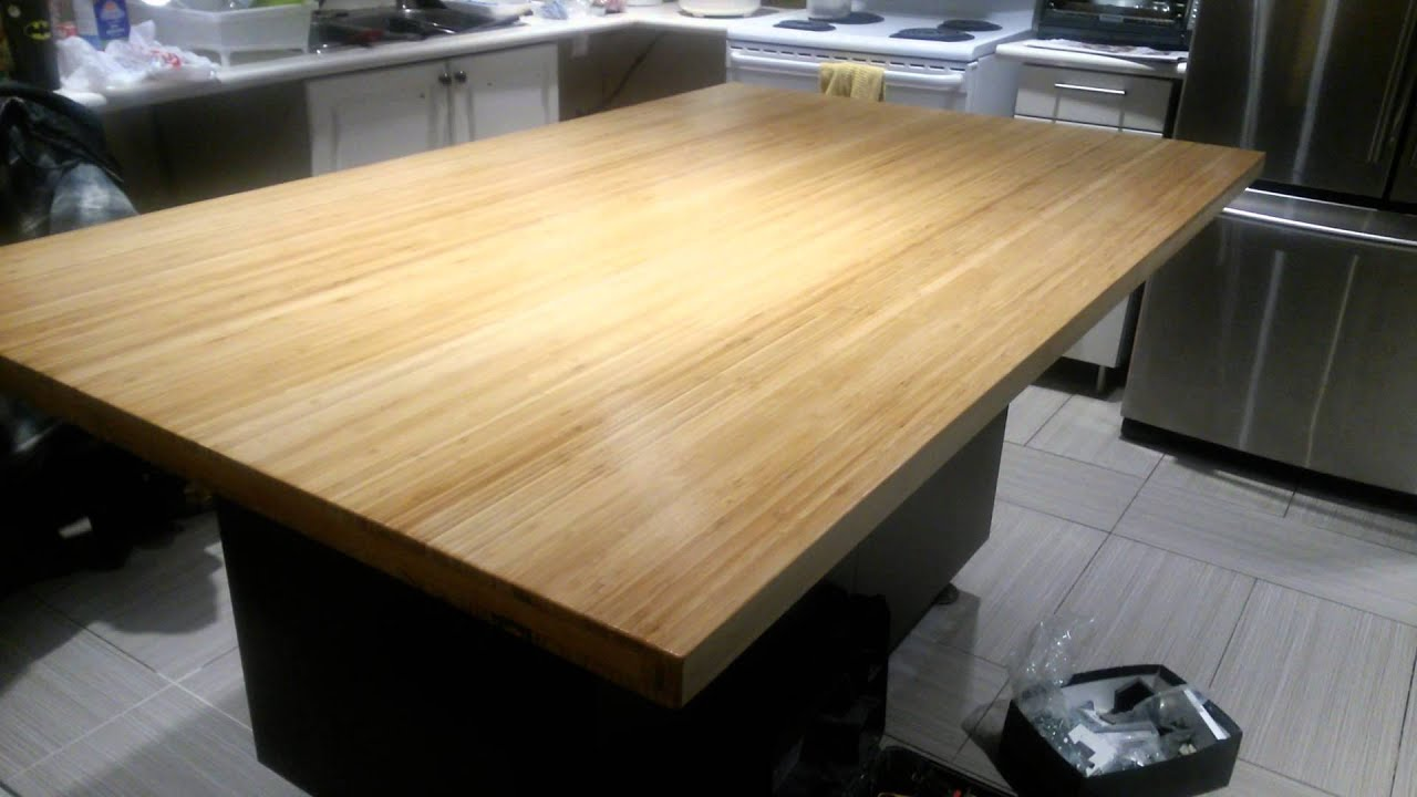 Bamboo Island Counter Top By Varathane Youtube
