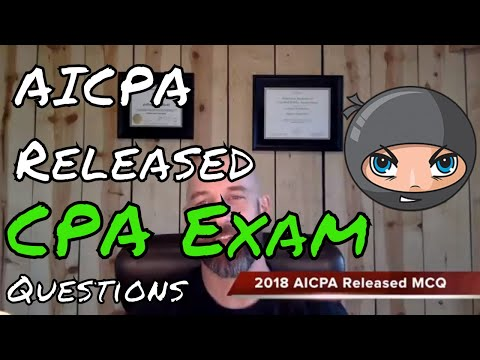 AICPA Released Questions 2018 | Another71 - YouTube