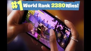 #1 Fortnite World Rank - 2,380 Solo Wins! Fortnite iOS coming soon sign-up link in description!