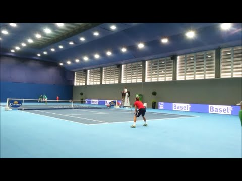 Swiss Indoors Basel 2015 COURT VIEW Lajovic - Bemelmans ATP 500 HD