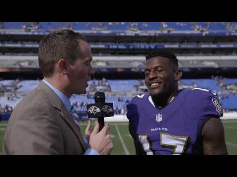 Mike Wallace Says Joe Flacco Has Best Deep Ball In NFL | Walk Off Interview | Baltimore Ravens